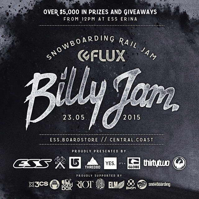 SATURDAY 23rd - The annual Flux Billy Jam at @ESSBoardstore, Erina! This is the first event of the Australian snowboard calendar. A fundraiser will be taking place to raise money for Black Dog Institute & the @ProtectOurWinters foundation. Expect good...