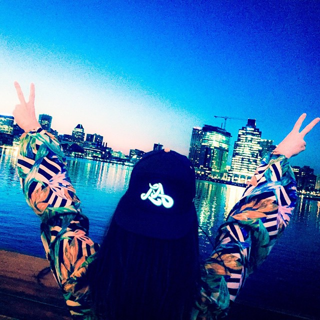 Big shout out to our girl Brandy for bringing some west coast style to the Baltimore Inner Harbor! (Photo cred: @uacinderella)  #Lumativ #snapback #headgear #E5 #CityLights #LA #Baltimore #Bmore #livebright