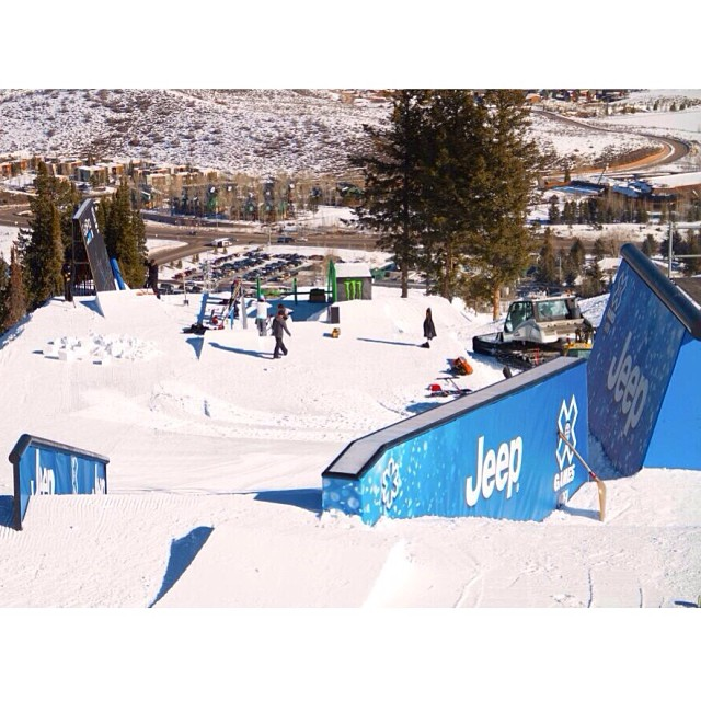 Taking in the view from the top of Slope! #xgames