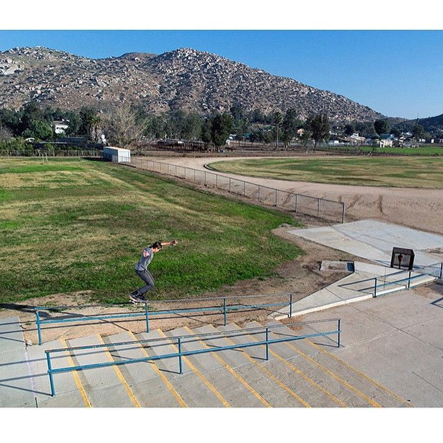 @mikeytaylor1 on a long ride of a crooked grind from his interview in @theskateboardmag. His new shoe, the #MikeyTaylor2, is available now in skateshops and at dcshoes.com/mikeytaylor2. Photo: @aacostaa #MikeyTaylor #DCShoes