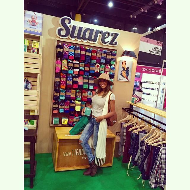 @floppytesouro pasó x nuestro stand y se llevó sus medias @tiendasuarez !!