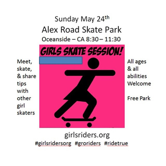 Session this Sunday!!! Come skate with some awesome girls