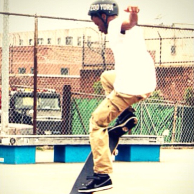 #Skating in #Brooklyn last weekend.  Photo by @akalindalee.  #shred #skatetricks #skater #skateboarding #skateboard #skatelife #citylife #nyc #youth #community #spring #outdoors #streetskating #stoked #stokedorg