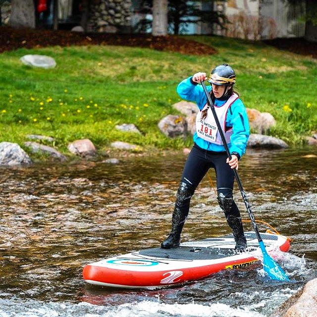 Sup racing at the weekly whitewater series here in Vail, Co In preparation for the @gopro @mountaingamesvail!  @boardworkssurfsup 9'6 Shubu Mod #welivewater #teamboardworks