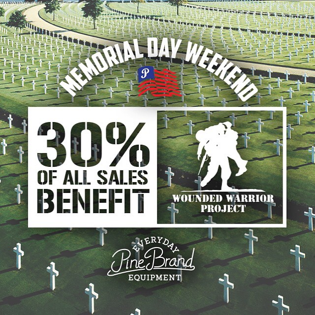 This weekend we remember all those who have served, especially those who made the ultimate sacrifice for the freedom we enjoy everyday. Many are still carrying a heavy load, so instead of a Memorial Day sale, starting today and continuing through...