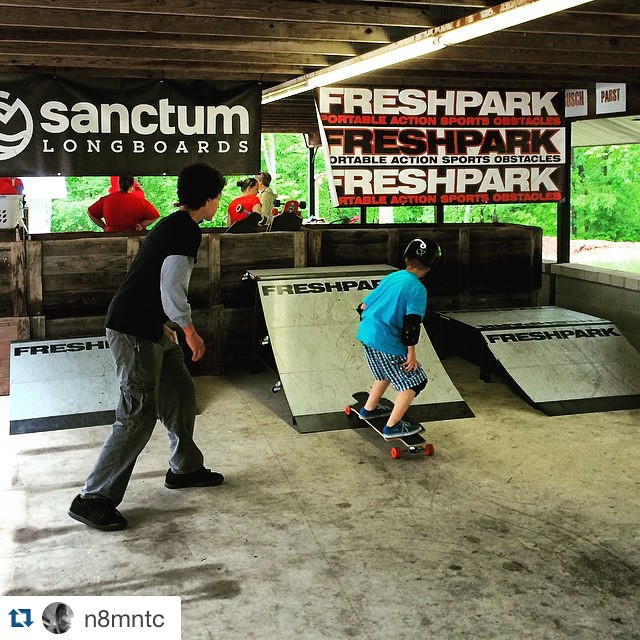 #Repost @n8mntc @_get_on_board_  We can go any where !! Thanks to #freshpark and their Ramps. Here we see @darryllxh an @_get_on_board_ Head Instructor doing his thing. Thanks #freshpark ........ @rayzortattoos #autism #sk8life #skateboardingsaves...