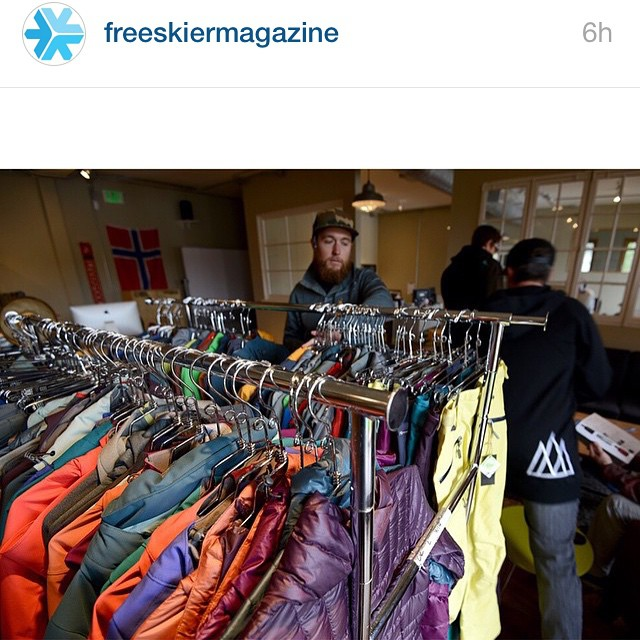 Thanks for letting us stop by today @freeskiermagazine and we're stoked you guys dig the new 15/16 line.