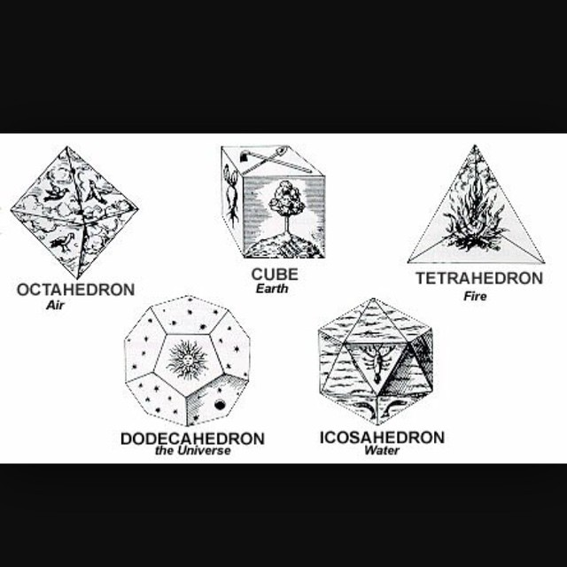 The 5 Platonic solids. There is a 6th mystical shape, also found within Metatron's cube. This is the star tetrahedron, made up of 2 tetrahedrons. This powerful shape is also called a Merkaba. It contains within it the geometry of the cube, the...