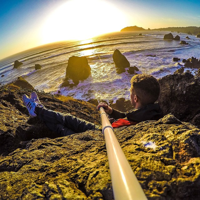 @tmadden49 lounging during a sunset in California. How are you relaxing this weekend? GoPro HERO4 | GoPole Reach #gopro #gopole #gopolereach #weekend #california