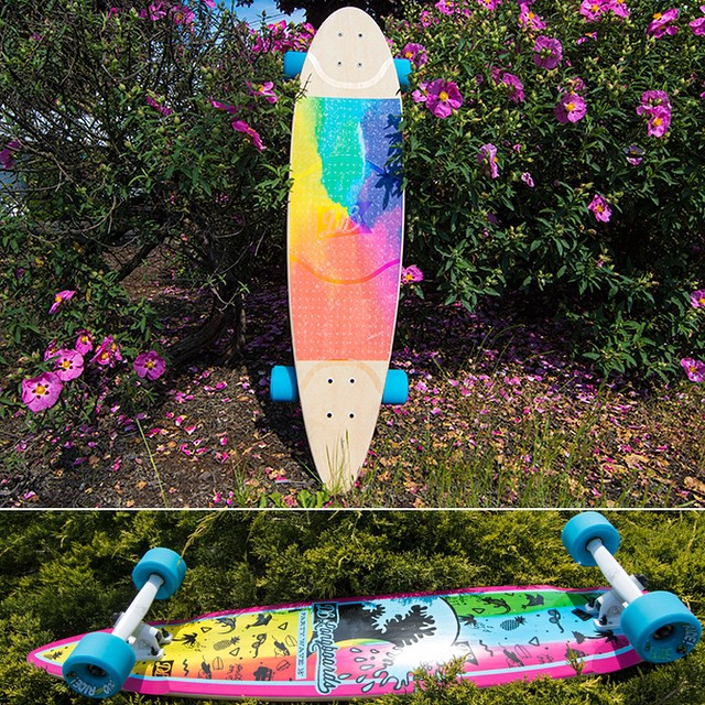 Push into summer on your very own custom Party Wave Pintail. Here's a colorful custom longboard we recently shipped out! #partywave #longboard #longboarding #longboarder #dblongboards #goskate #shred #rad #stoked #skateboard #skateeveryday