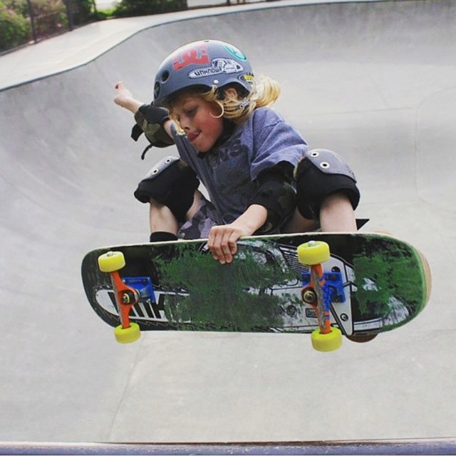 @unknownboardshop 's @little_sauce_5050 rockin the S1 Mini Lifer Helmet . #frontsideair #s1helmets #skateshop #unknownboardshop #supportyourlocalskateshop #groms #skatepark