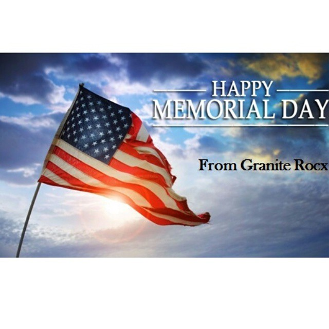 Thanks to all that have served our country.  Happy Memorial Day Weekend! #MemorialDay #usa #graniterocx