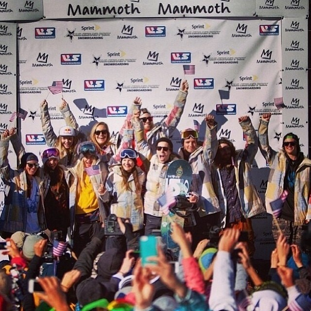 #ICYMI, yesterday at the final #Olympic qualifying event at @mammothmountain, the 2014 US Snowboarding Olympic Team was named!! Congrats to #TeamB4BC riders @kaitlynfarr for halfpipe and @jamieandersonsnow for slopestyle, and the rest of the Olympians...