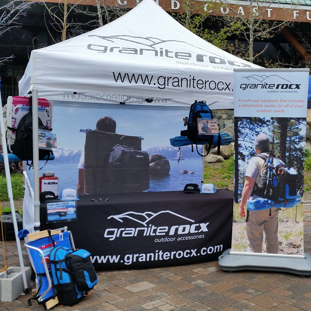 We're hanging at the #MadeinTahoe  Festival @squawalpine so c'mon by and say hello!  #backpacks #coolers #getoutdoors #graniterocx