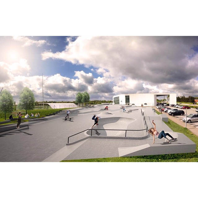 "This rendering of the new park in Birkerød, Denmark, by Glifberg + Lykke is like a #skateboarding ""Where's Waldo?"" Who can you find?"