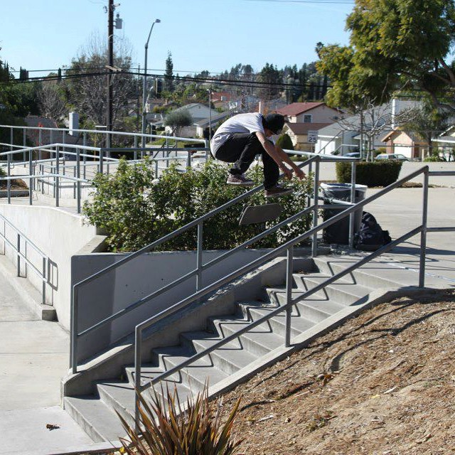 @listoassfoo putting #4down on this 10 Stair #backsideflip photo shot by Pedro Chacon #skate #skatelife #skateboard #skatedaily #skateshops #skateboarding #tricks #stompit #getbuck #hammers #boards #builttolast #oem #skateboardprinting #wheels #funbox...