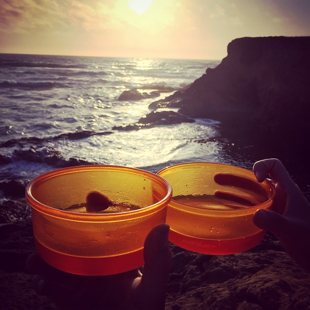 Plastic Bowls at Glass Beach.