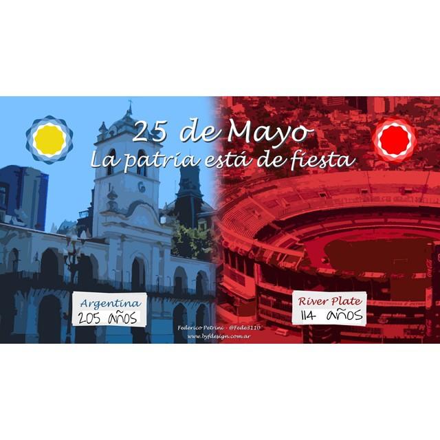 La Patria de fiesta : 205 años de la Independencia Argentina / 114 años del primer y único club MÁS GRANDE , LEJOS !!! @carpoficial feliz día a uno de los amores de mi vida , al de las miles de alegrías a pesar de caídas y derrotas , gallina y...