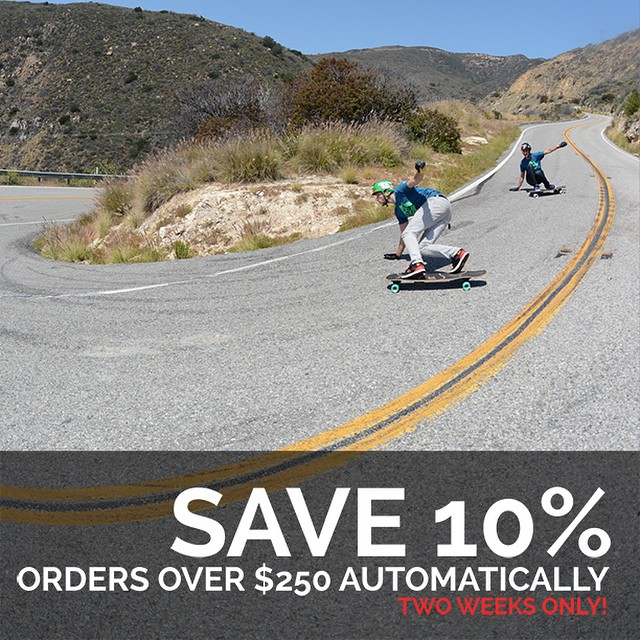 10% off all orders over $250! Act fast because this deal is almost over! #longboard #longboarding #longboarder #dblongboards #goskate #shred #rad #stoked #skateboard #skateeveryday