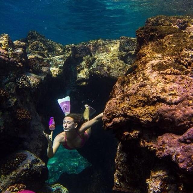Diving for @sambazon treasure :-) @odinasurf @dafinhi photo by @hisarahlee shot on @realoutex