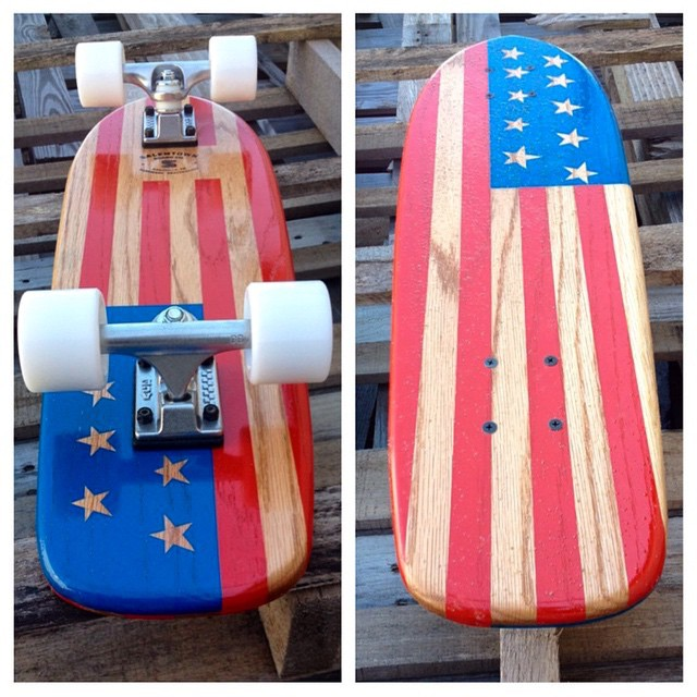 Happy Memorial Day!!! Check out this flag cruiser we did a while back. #handmadeskateboard #Nashville #skate