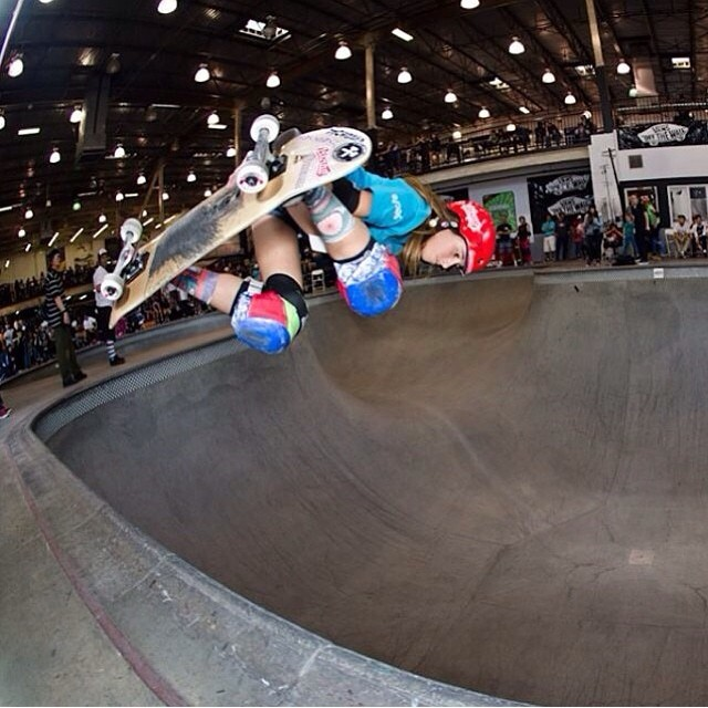 Congrats to @flying_arianna on getting 4th at the #vans #girls #contest in the #combi . Arianna wears an S1 Lifer Helmet. #fullycertified #backsideair