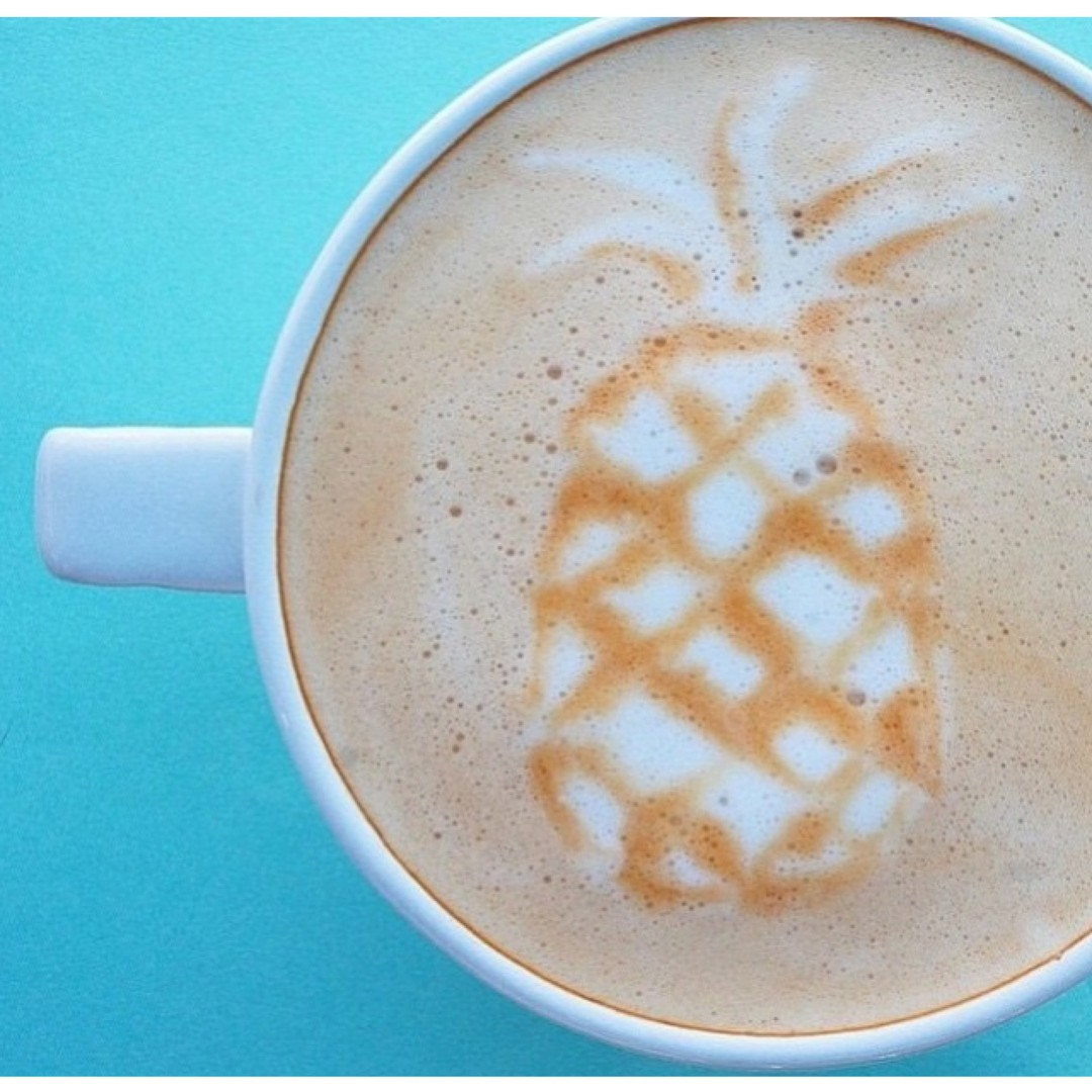 That looks about right. || #regram from the very cool @drift_co || #getoutthere #butfirstcoffee #postholiday #pineapple #coffee #ilovecoffee #foam #mermaidcoffee #mermaidstyle #tropical #awesome ☕