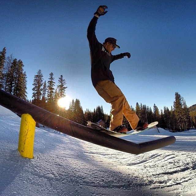 @nial_romanek lapping @borealmtn testing the flex for his new #anNialator pro model. So stoked to have you on board!