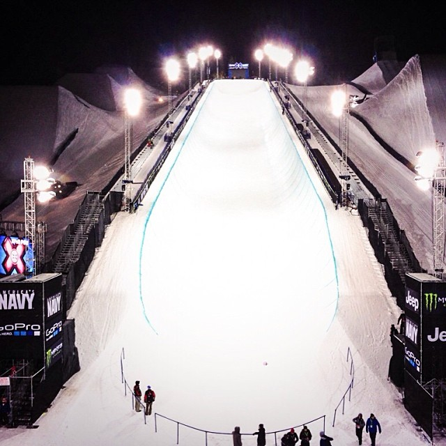 Night one of practice under the lights! #xgames