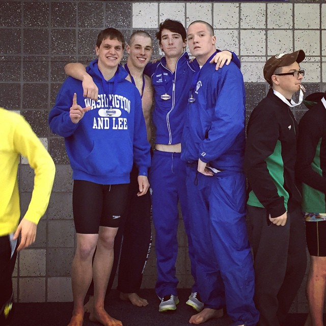 We made the podium! Looking forward to another great 2 days (and another 2 years) of swimming with these dudes.
