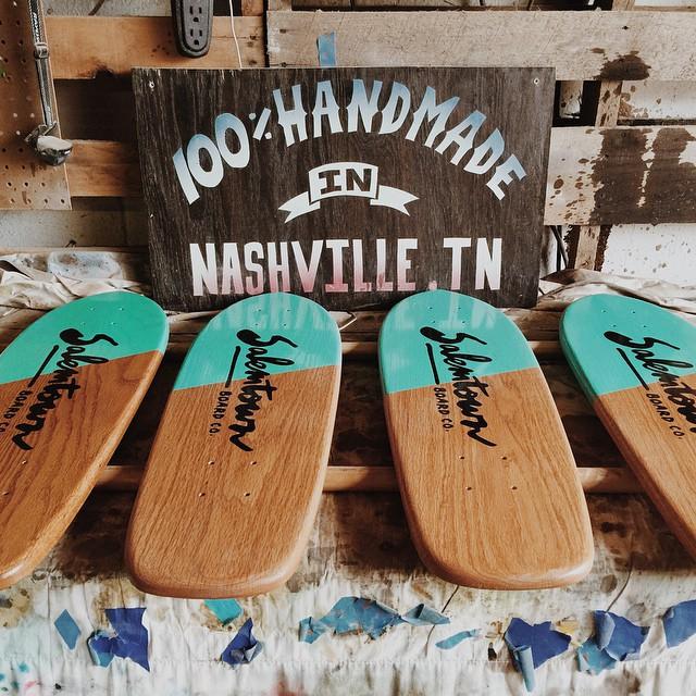 Back at this week. #handmadeskateboard #skate #Nashville