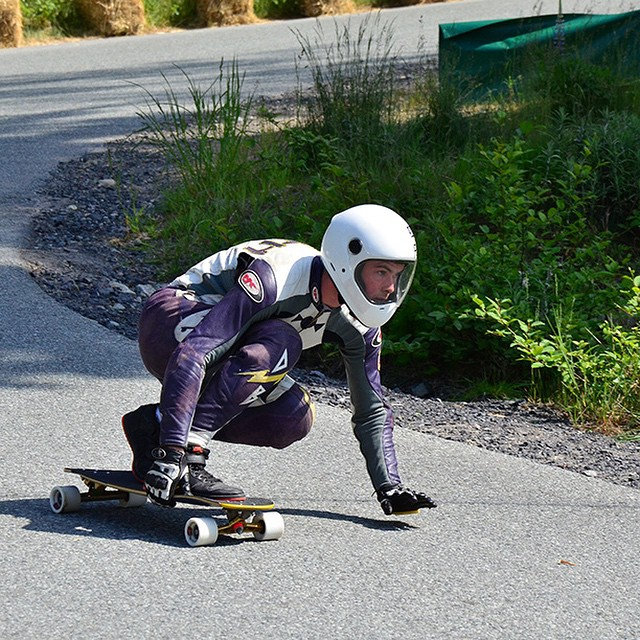 "Team rider @speedscientist at the Britannia Classic last weekend on a symmetrical Keystone 39"" prototype."