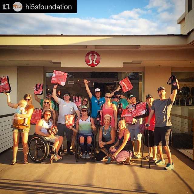 #Repost photo from the incredible @hi5sfoundation:  Thank you @lululemon for outfitting the #Hi5TheWave crew here on Maui!  It was an amazing experience having a full on #PrettyWoman shopping spree with such amazing athletes and #Lululemon...