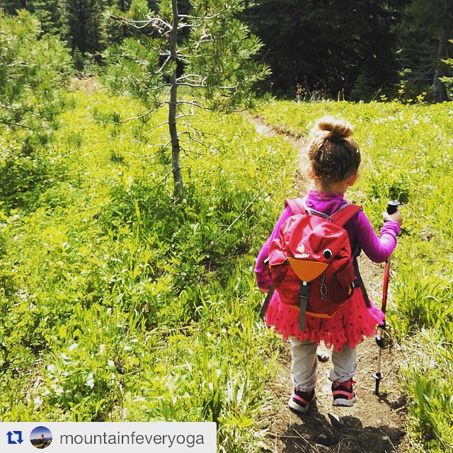 @mountainfeveryoga is making our heart explode! ・・・ She insisted on her 'hiking tutu.' #mountainfever #mountains #IAmSJ