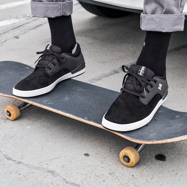 Black suede shoes never go out of style.  Get the #MikeyTaylor2 now available in Black/White at:  dcshoes.com/MikeyTaylor2 @mikeytaylor1 #DCShoes