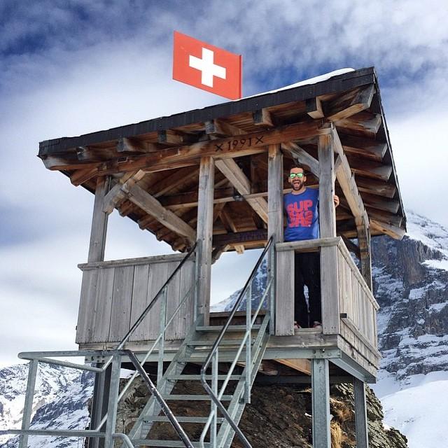 Hopp Schwiiz! Lime Headlands made it up to Kleine Scheidegg, Switzerland!  Awesome pic by @fabisociale