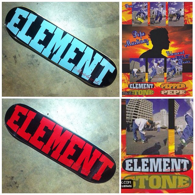 "The OG #Element ""BOLD"" is back in 8.5 (Blue) and 8.75 (Red)! >>> head to Elementbrand.com or your local shop! #Throwback #pepemartinez #BillPepper #andystone @branchdistribution"