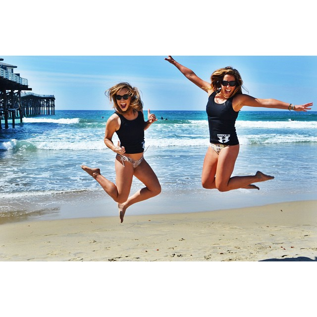 Happiness is being halfway through the week. #hovenvision #teamhoven #happy #beach #surf #sup #wednesday #jump #bikini #hovenhunny #wcw #summer #sandiego #california