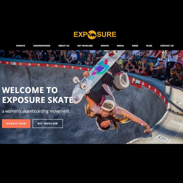 We are very excited to launch our brand new EXPOSURE website! Click the link in our bio to check it out! @allyshabergado #ladiesofshred #girlswhoskate #skatergirl