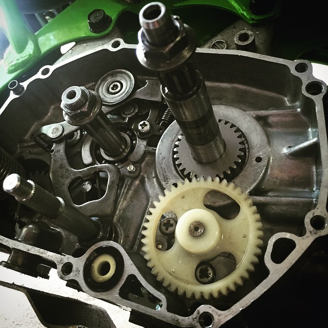 Looks like we finally got a pit bike! @wolftrainingacademy @whatthefett @barnettmxphotography #kawi #klx #klx110 timetomob #motor #engine