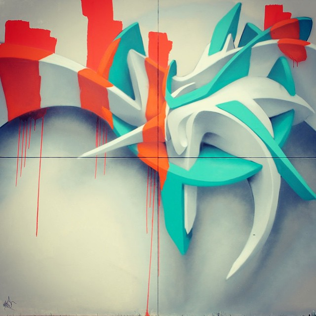 Concept 3D #graffiti - everything is cooler with another dimension.