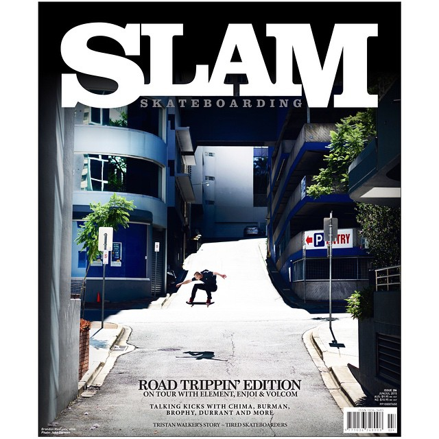 "@WestgateBrandon lays down a heavy NBD down under for the cover of @slamskateboarding. This spot was so jacked, only a few people in the world would have even considered it a ""spot."" Photo by #ElementAdvocate @jakedarwen #westgateonelement"