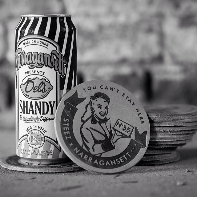 These @gansettbeer x steez leather coasters are included in our limited edition issue 35 drop this Saturday. Get yours at @goodlifebar @djknife @dj7l @erick_sermon @house_of_roulx #narragansettbeer #gansett #leather #beer #coaster #issue35...