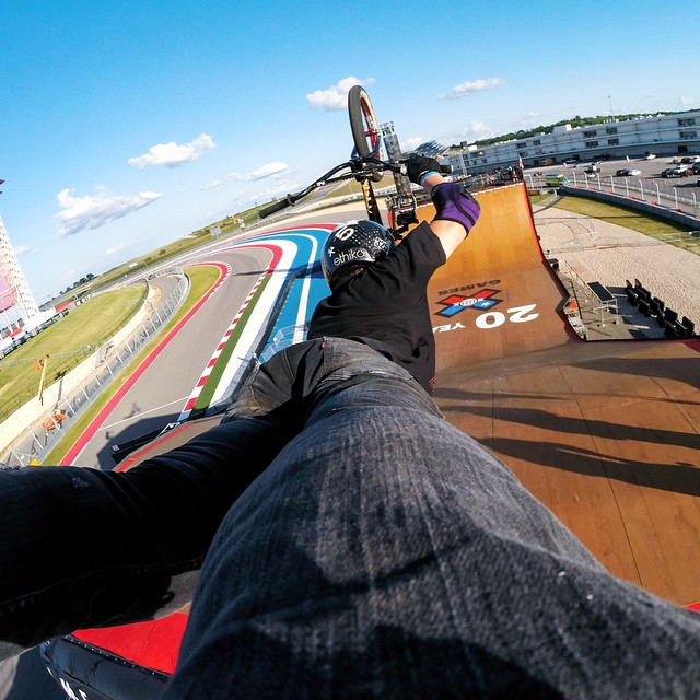 Throwin' it back to the time @texasmwade threw a massive superman at @xgames BMX Big Air. #tbt #GoPro #xgames  Want to win your own GoPro? Give us your best hashtag for a chance to win a HERO4 Black!