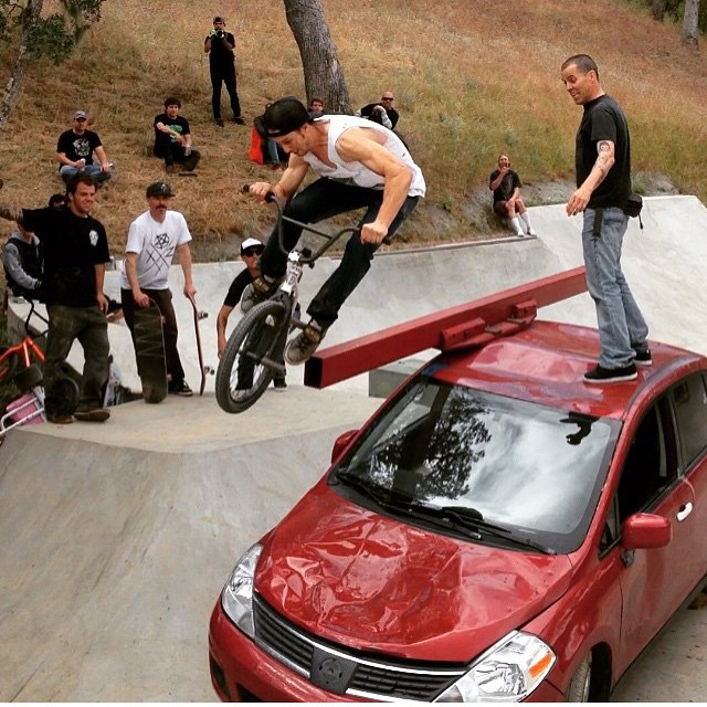 Steve-O brought his whip to #gkcfest #Goodtimes #grind #bmx #bult @gkcworldwide