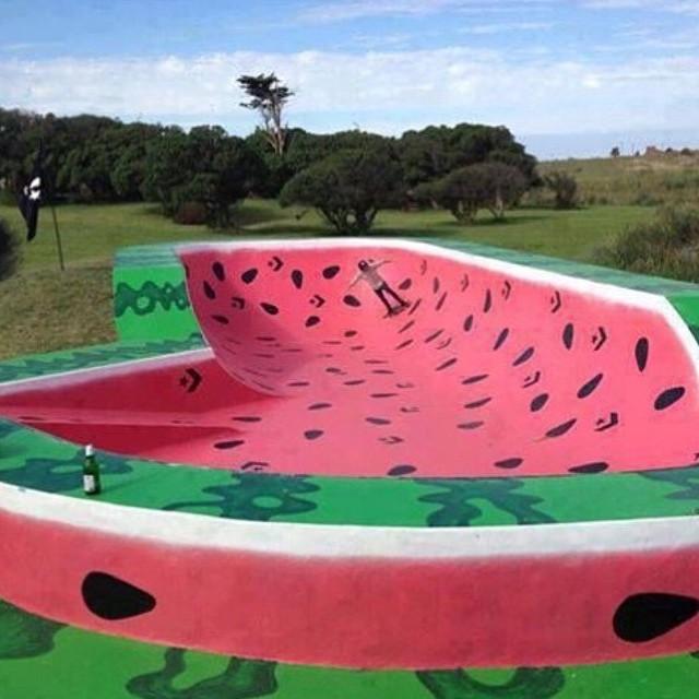Grind the Rind! Awesome skatepark!  #revbalance #balanceboards #madeinusa #findyourbalance #balanceskills #skateparks #epicshit #epicskatepark #watermelons #grindtherind #ride #gottarideit #love #mustgothere #boardsports #skateboarding #shredding...
