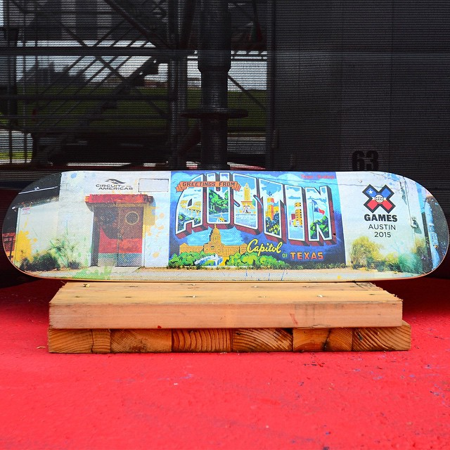 The official 2015 #XGames Austin skate decks have arrived at @cota_official!  Click the link on our profile page to pick one up.