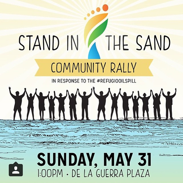 Friends of #SantaBarbara, this Sunday, May 31st, stand united towards a #cleanenergy future! Be the #change, wear yellow and meet at DLG Plaza at 1pm. #RefugioOilSpill #healthyplanethealthyyou @loatree