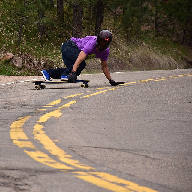 "Team rider @garrett_creamer on the Keystone 39"" in Colorado. (Photo by Tyler Preston) #longboard #longboarding #longboarder #dblongboards #goskate #shred #rad #stoked #skateboard #skateeveryday #dbkeystone #colorado"