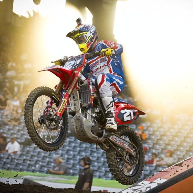 @coleseely lightin' it up in Anaheim!